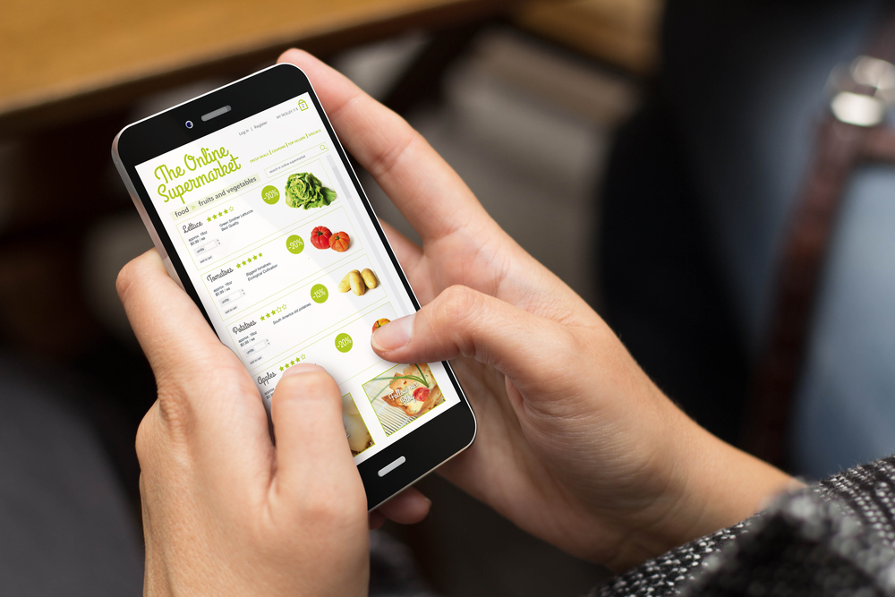 grocery shopping — using an app