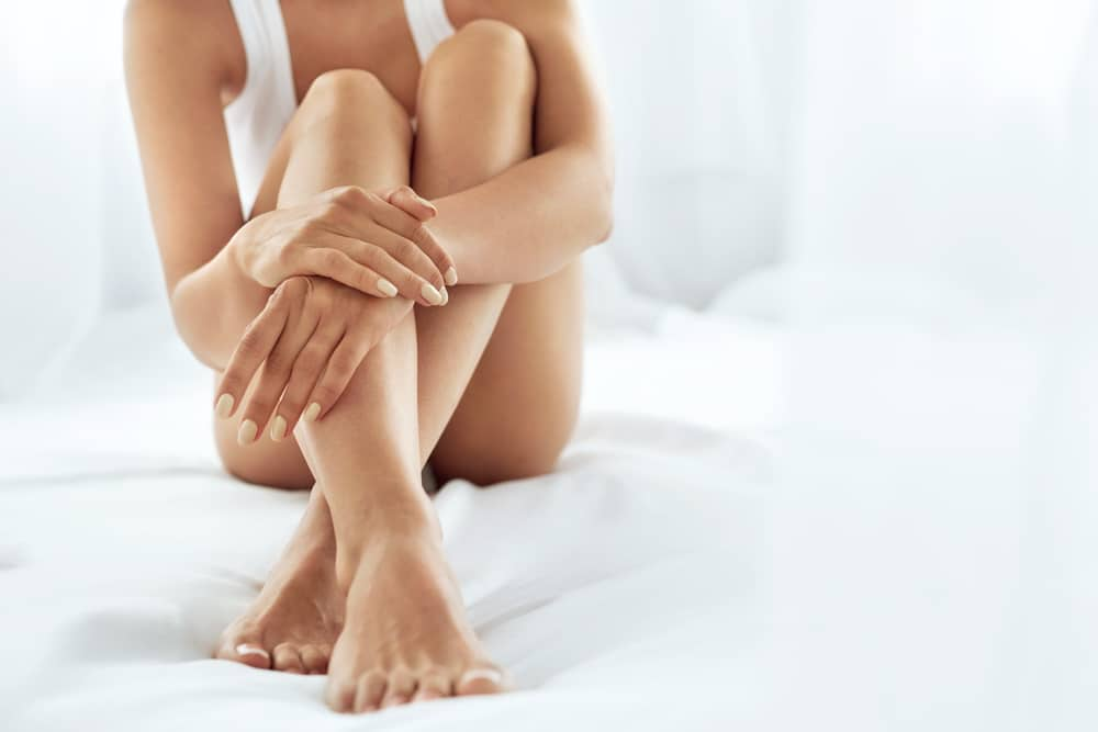 hand and foot skincare for brides