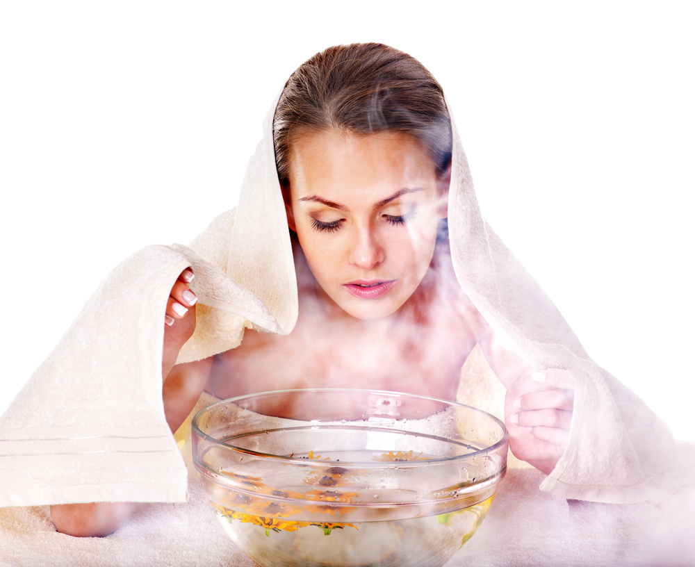 use steam to get rid of oily skin